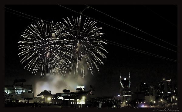 Fireworks Photograph - Nashville 4th Of July by Sheri Bartoszek