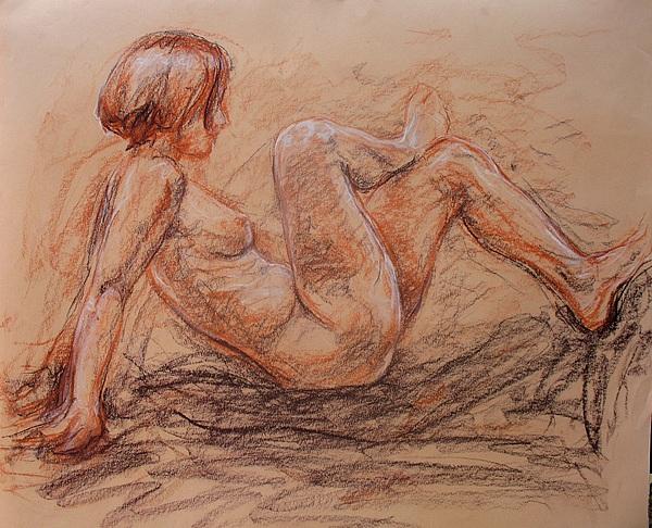 Woman Drawing - Natalie II by Jammie Williams
