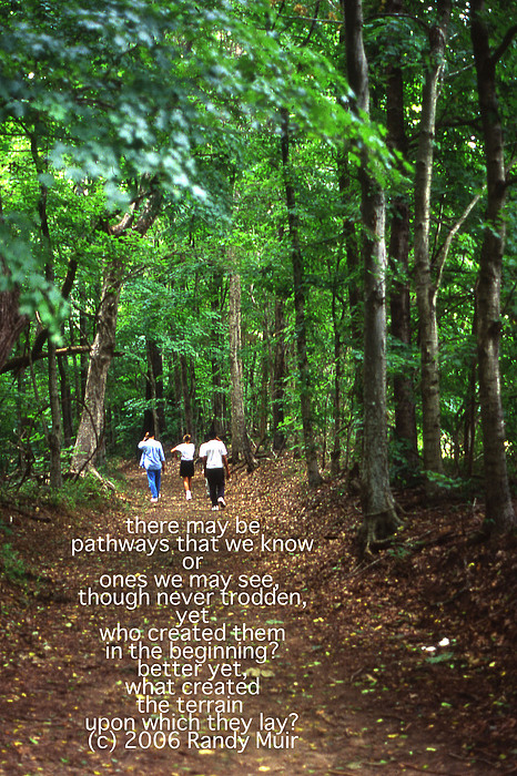 Tennessee Photograph - Natchez Trace Walkers With Poem by Randy Muir