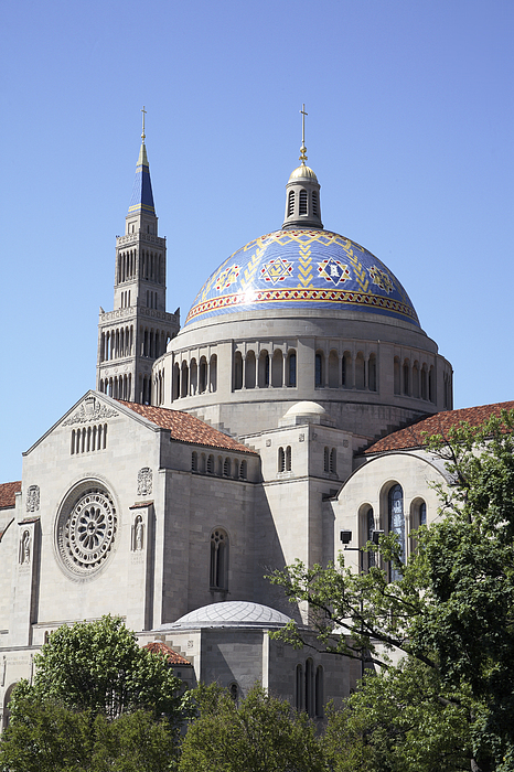 Architecture Photograph - National Shrine Of The Immaculate Conception by William Kuta