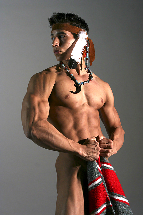 Male Photograph - Native American I by Dan Nelson