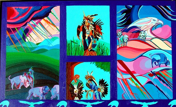 Native American Painting - Native Americans by Jamie Winter