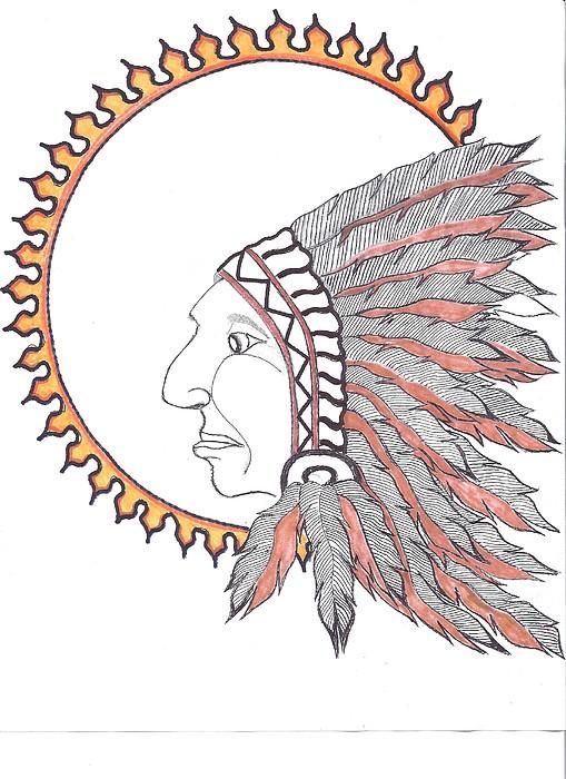 Nativesun Drawing by Cam Macpherson
