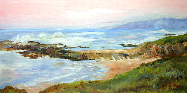 Pacific Ocean Painting - Natural Jetti by Max Mckenzie