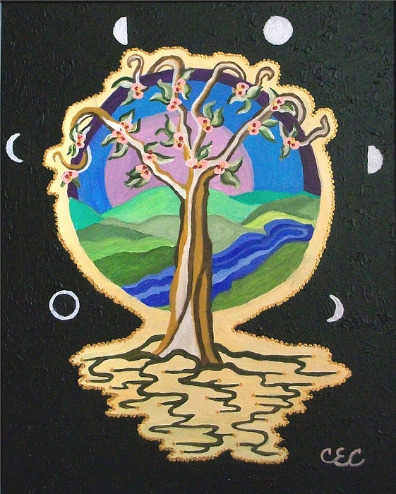 Tree Painting - Natures Guardian by Carolyn Cable
