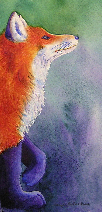 Fox Painting - Natures Redhead by Tracy L Teeter