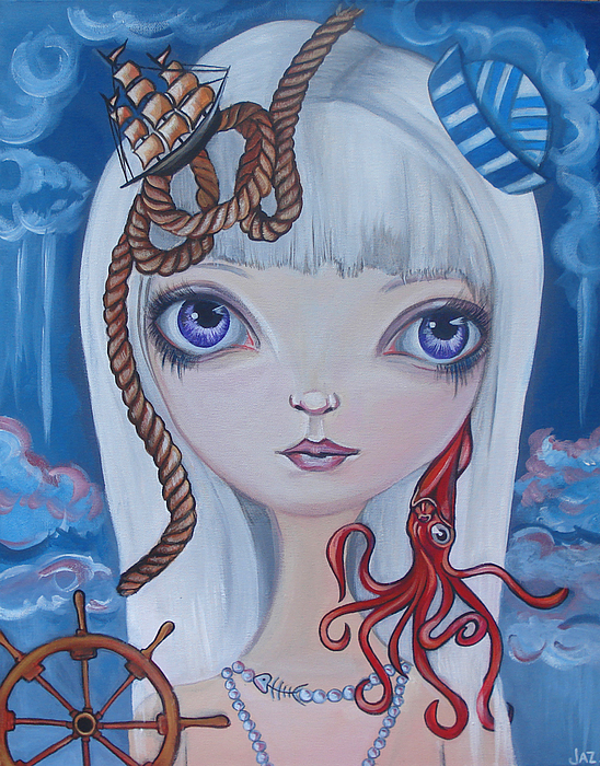 Nautical Painting - Naughty Cal by Jaz Higgins