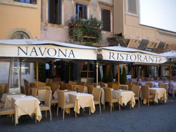 Rome Photograph - Navona Ristorante by Nancy Ferrier