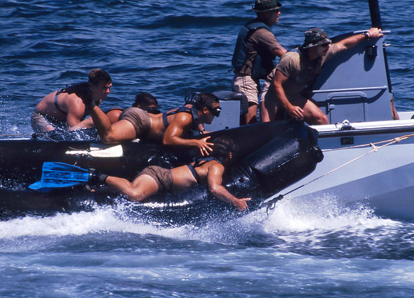 Nsw Photograph - Navy Seals Practice High Speed Boat by Michael Wood