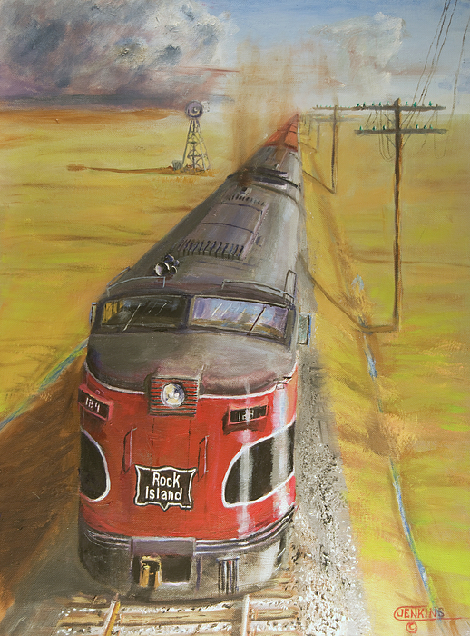 Train Painting - Near Thistle  Ks by Christopher Jenkins