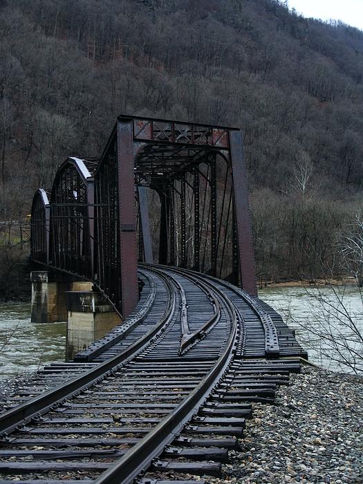 Railroad Bridge Photograph - Needed Aesthetic by Nicole Kinzer