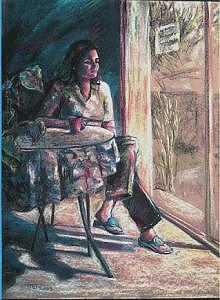 Figurative Painting - Neela by Tina Siddiqui