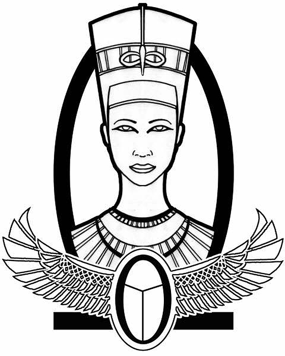 Nefertiti Drawing by Alysa Sheats
