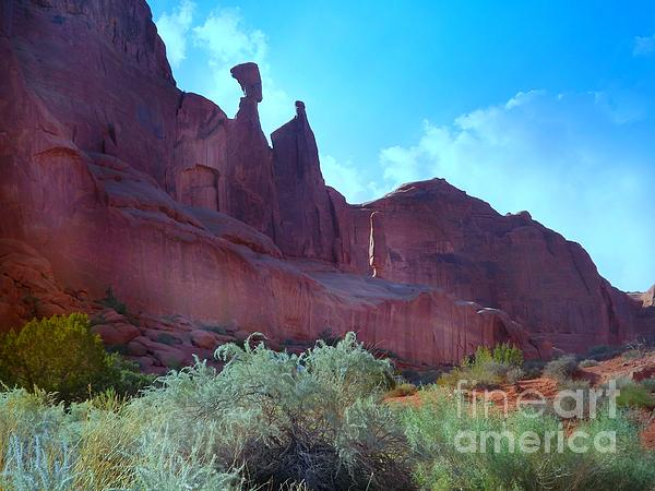 Arches National Monument Digital Art - Nefertiti And Her Slave And Her Son Face An Uncertian Future by Annie Gibbons