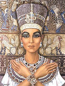 Nefertiti Ceramic Art by Beatriz Ramirez