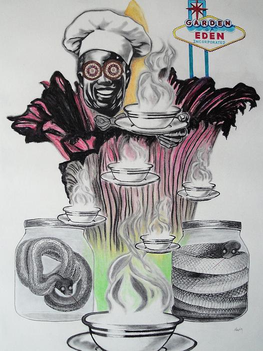 Pencil Drawing - Negative Genesis by Mag Nus