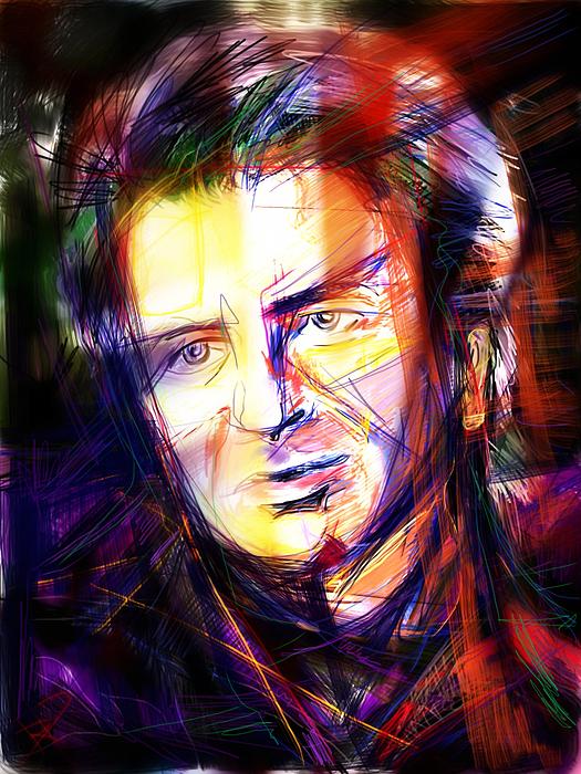 Neil Finn Mixed Media - Neil Finn by Russell Pierce