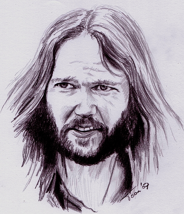 Neil Young Drawing - Neil Young by Toon De Zwart