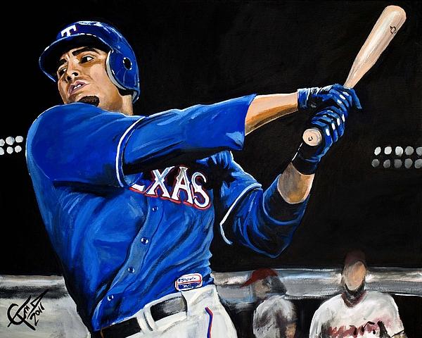 Nelson Cruz Painting - Nelson Cruz by Tom Carlton