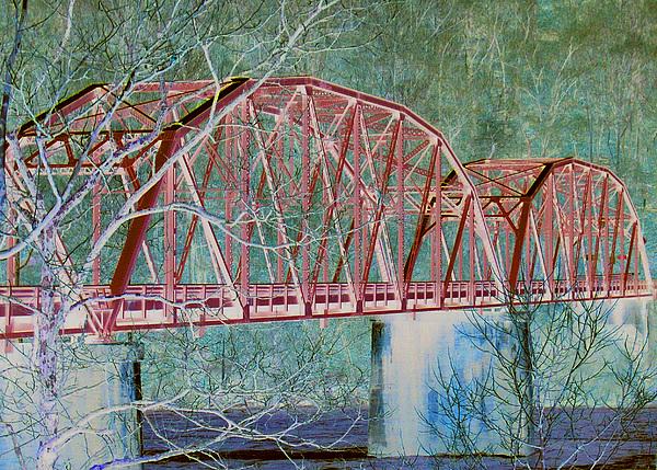 Neon Bridge Digital Art by Nicole Kinzer