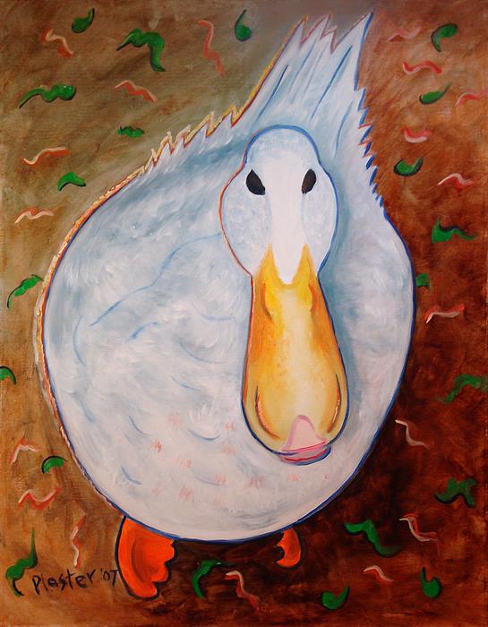 Animals Painting - Neon Duck by Scott Plaster