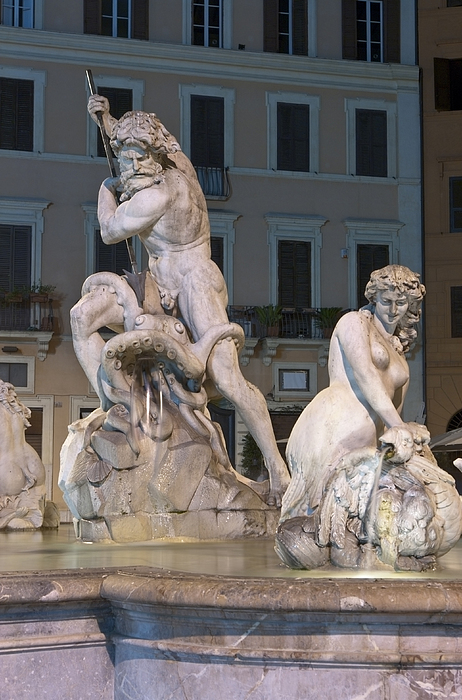 Fontana Photograph - Neptune And Nereid by Fabrizio Ruggeri
