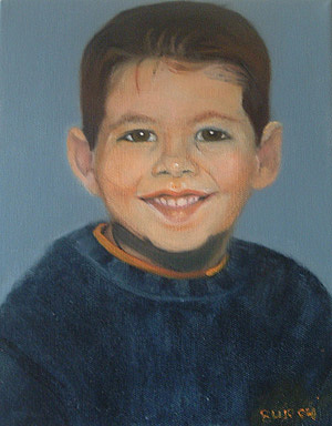 Nethan Painting by Lyne Bujold