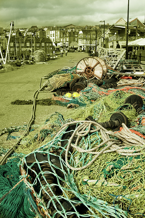 Fish Photograph - Nets N Ropes  by Rob Hawkins