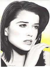 Portraits Drawing - Neve Cambel by Cliff Washburn