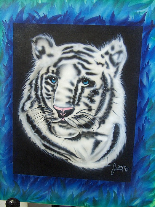 Never Tamed Tiger Painting by Artistic Endeavor Gallery Judith Lorraine White