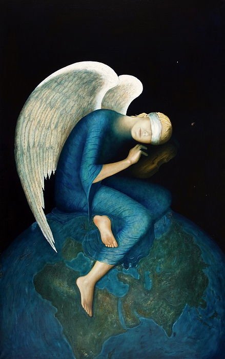 Angel Painting - New Hope by Nanne Nyander