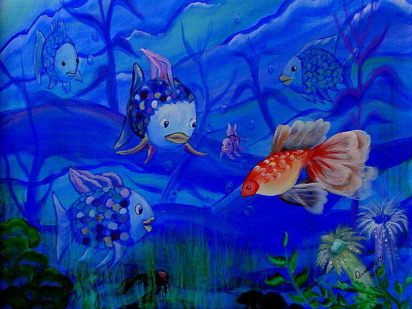 Fish Painting - New Kid In Town by Quwatha Valentine