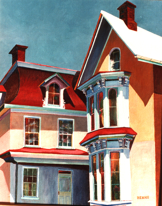 Old House Painting - New Light On The Past by Robert Henne