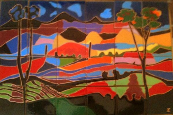 Landscape Ceramic Art - New Mexico Landscape by Yana Yatsyk