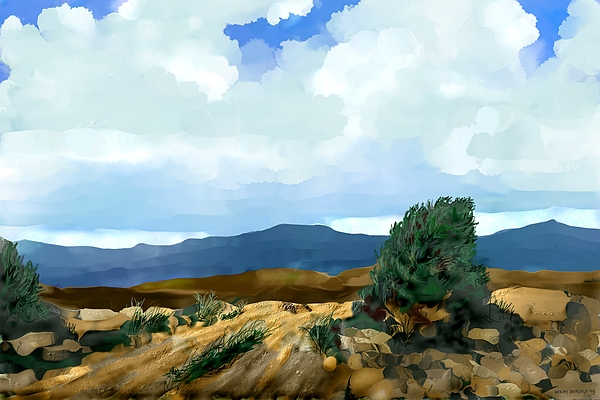 New Mexico Digital Art - New Mexico Morning I by Kerry Beverly