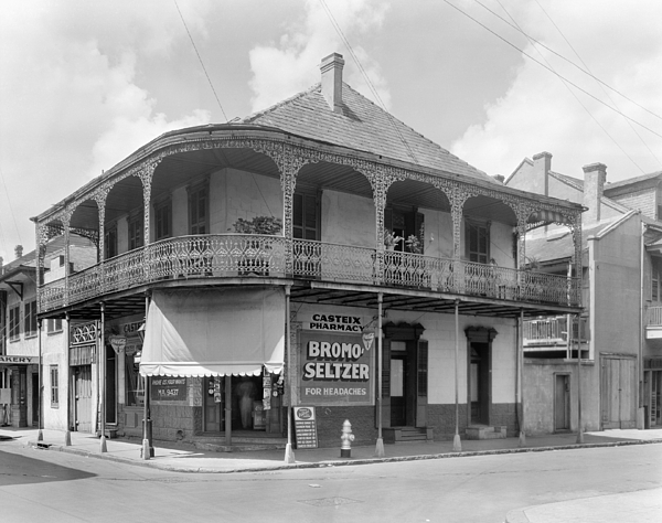 1938 Photograph - New Orleans Pharmacy by The Granger Collection
