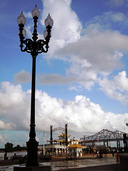 New Orlean Photograph - New Orleans Riverwalk by Joy Tudor