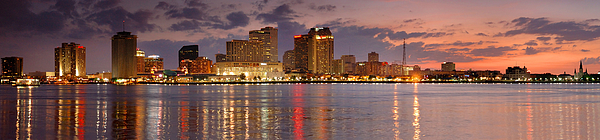 Architecture Photograph - New Orleans Skyline At Dusk by Jon Holiday