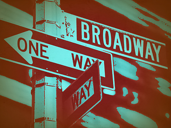 New York Photograph - New York Broadway Sign by Naxart Studio