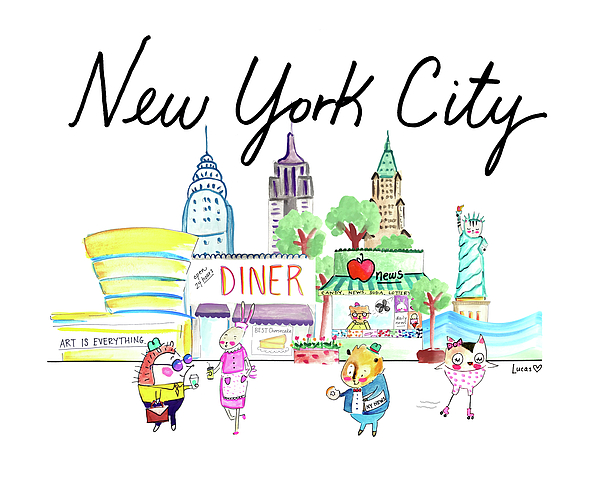 New York City Painting - New York City by Ashley Lucas