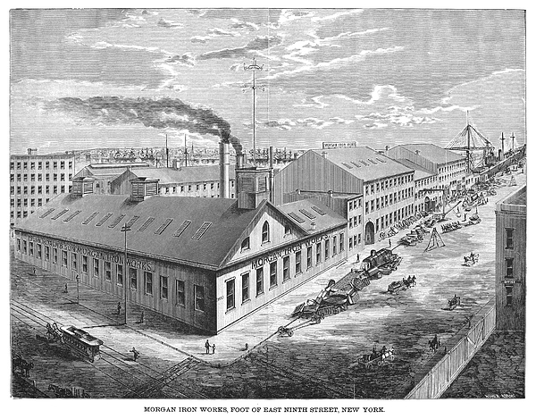 1876 Photograph - New York: Iron Works, 1876 by Granger