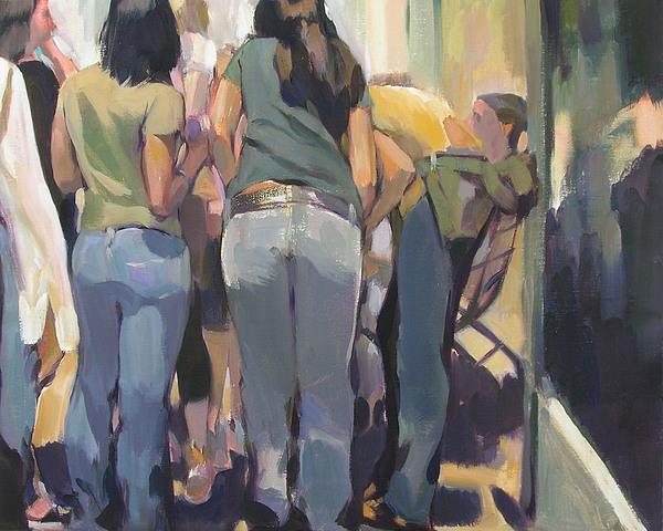 New York Kids Painting by Merle Keller