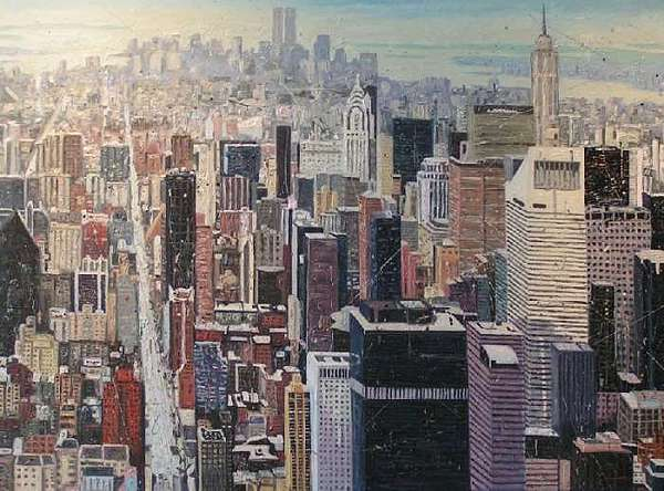 New York Painting by Luis A Luna