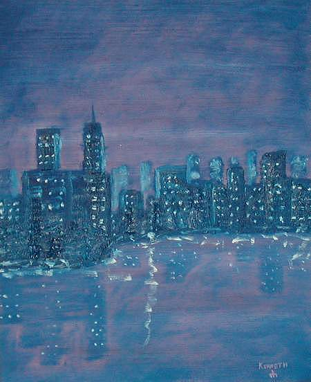 New York Remember. Painting by Artist Kenneth Gustafsson
