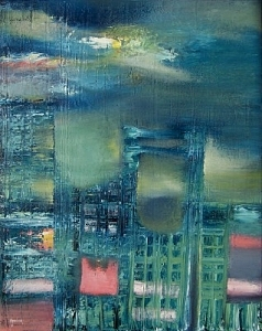 Buildings Painting - New York  Sold by Scott Spencer