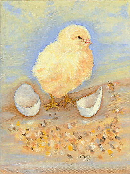 newly hatched chick painting by gail l millson