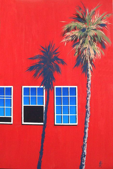 Palm Tree Painting - Newport Afternoon by Philip Fleischer