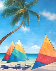 Wind Surf Painting - Next Summer by Peter j