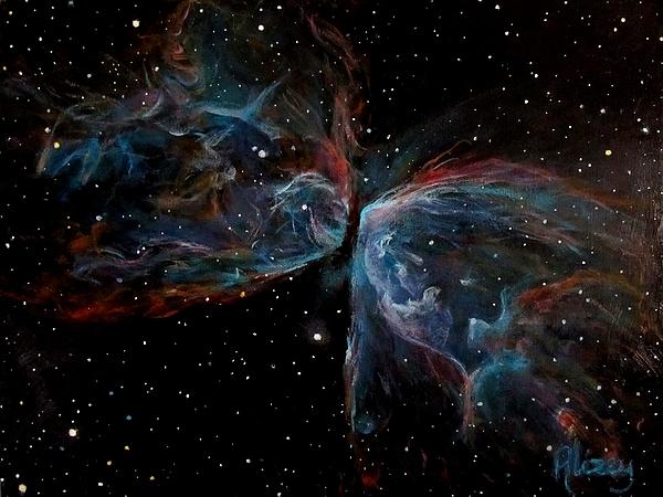 Nebula Painting - Ngc 6302 Butterfly Nebula by Alizey Khan