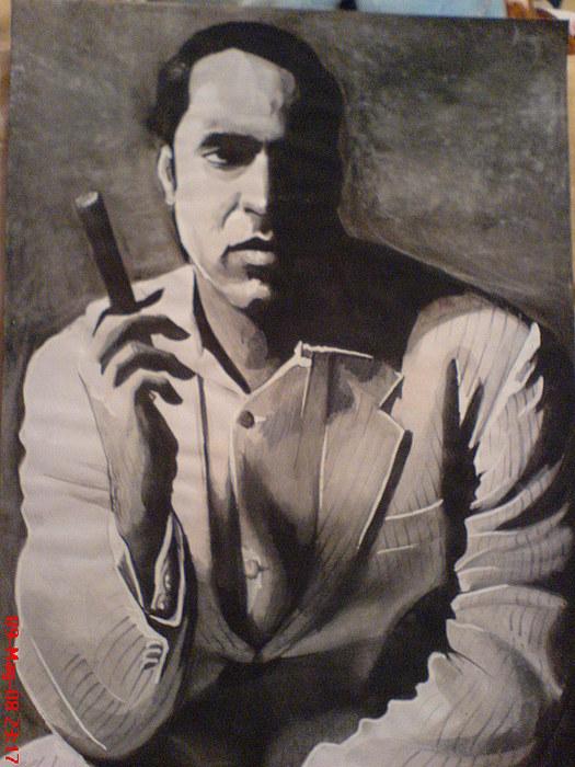 Tom Cruise Painting - Nicolas Cage by Sandeep Kumar Sahota